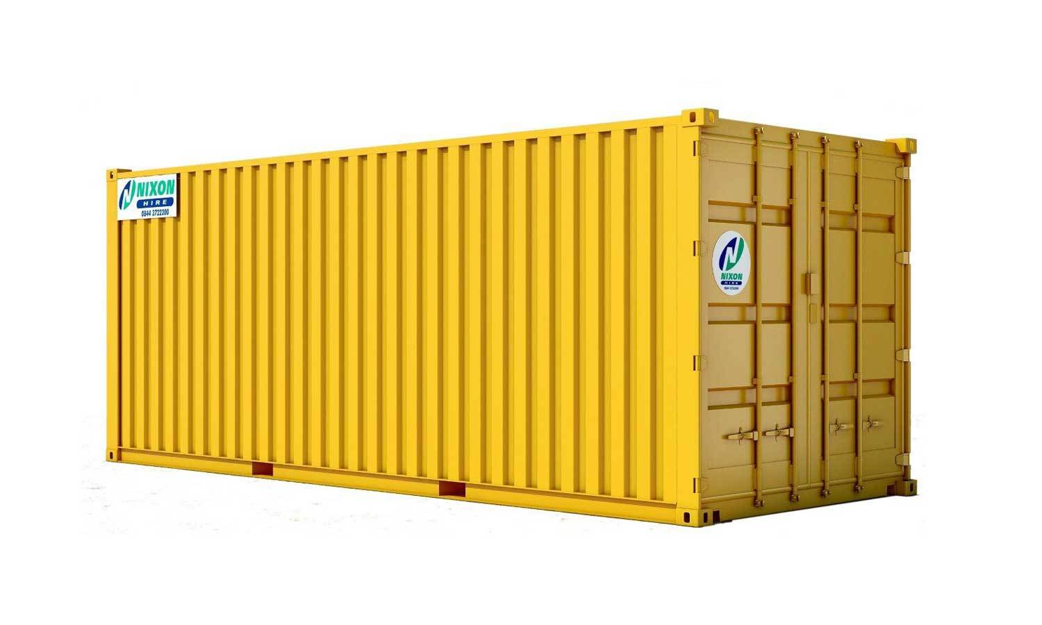 Exterior View Of 20 Foot High Cube Security Container Cut Out