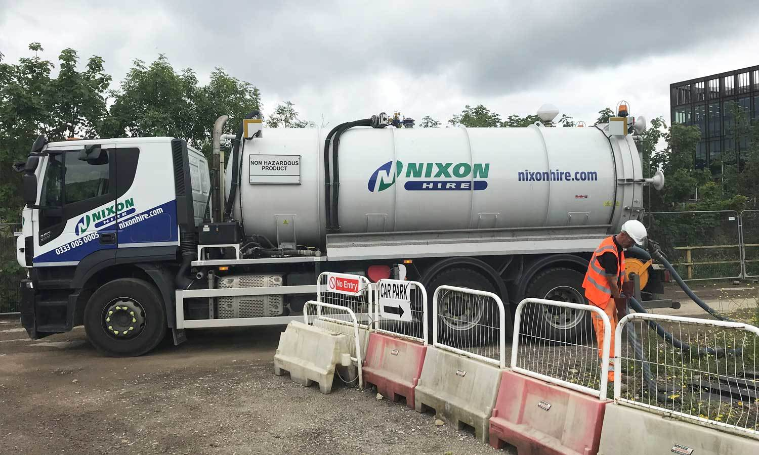 Working Image Effluent Tank Emptying