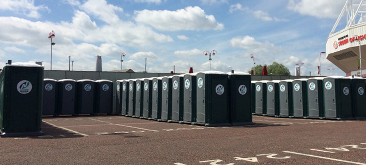 Example Set Up Of Event Equipment With Nixon Hire Portable Toilets and Fencing