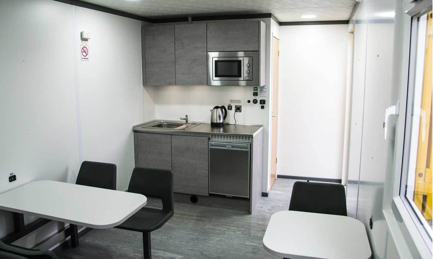 All In One Module 28 Site Welfare Unit To Hire - Internal Canteen Facilities