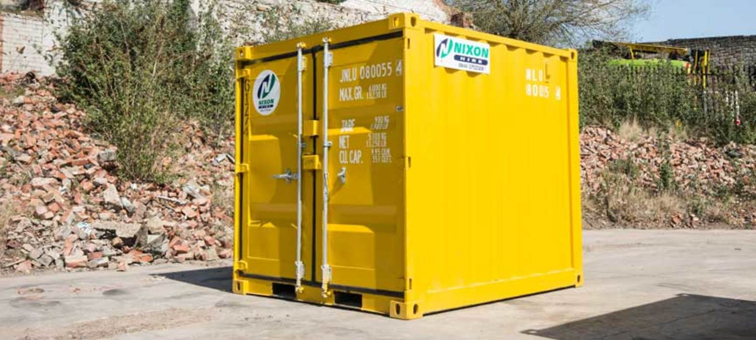 New 8 Foot Shipping Container Ready For Sale At Nixon Hire Depot
