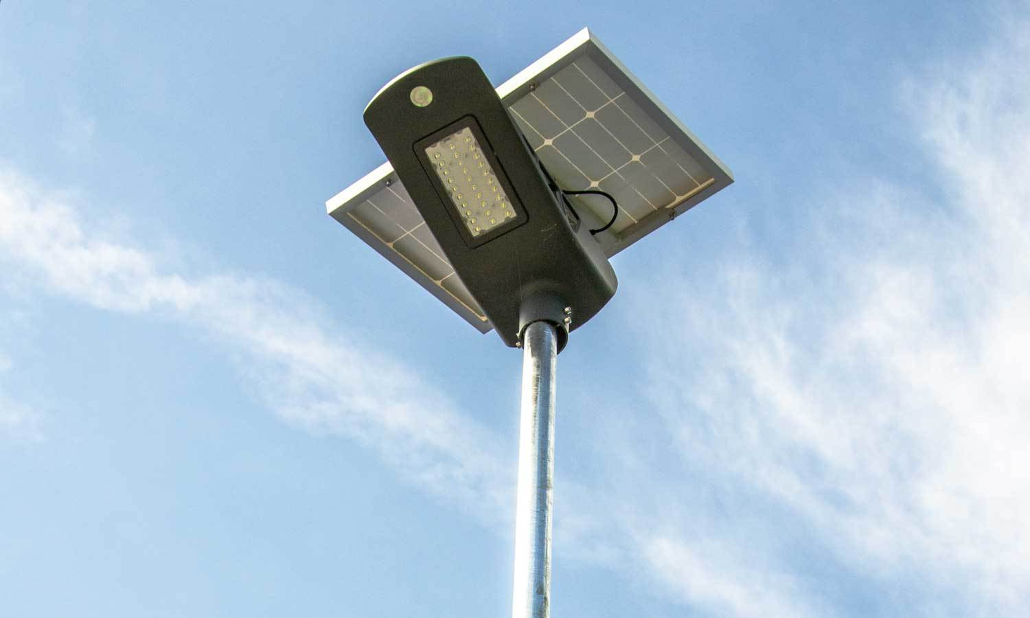 Solar Street Light Features - Close Up Of Solar Panels