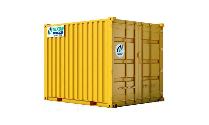 Exterior View Of 10 Foot High Security Container Cut Out