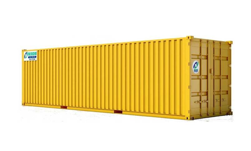 Exterior View Of 30' x 8' High Security Container Cut Out