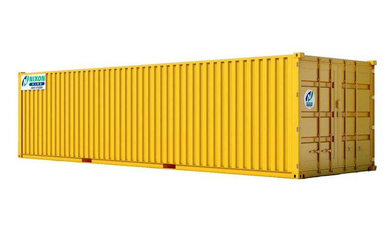 Exterior View Of 32' x 10' High Security Container Cut Out
