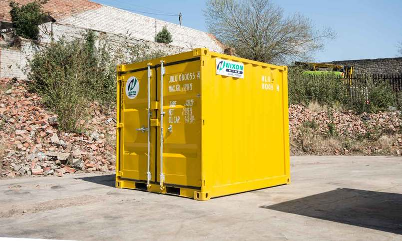 Exterior View Of 8 Foot High Security Container At Nixon Hire Depot