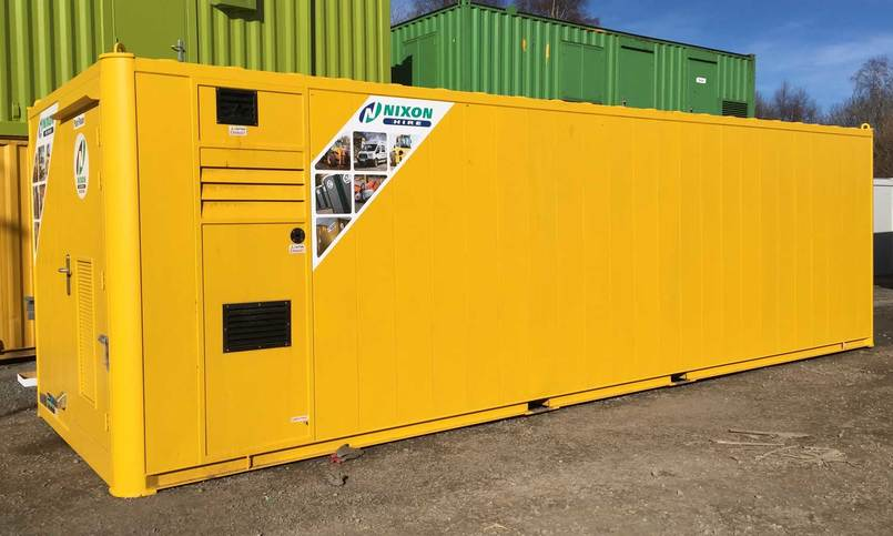 All In One Module 28 Site Welfare Unit To Hire - Back View