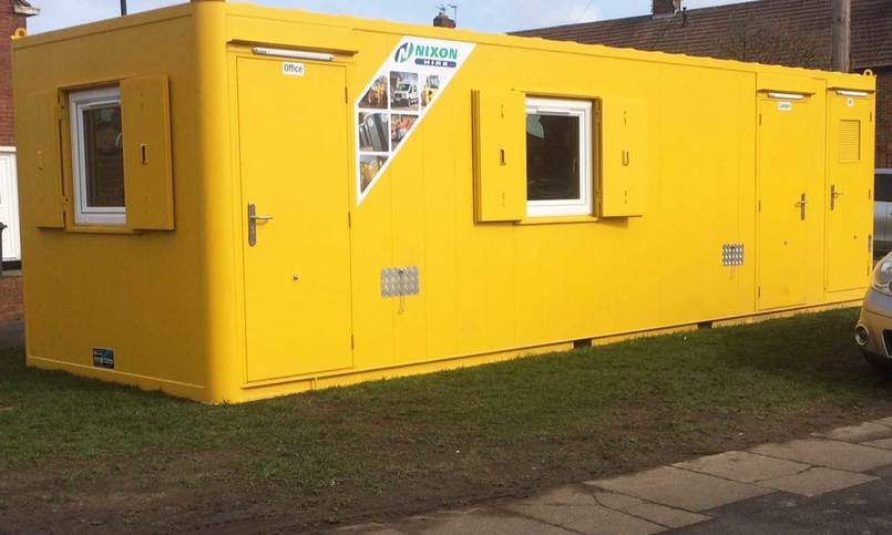 All In One Module 28 Site Welfare Unit To Hire - Front View