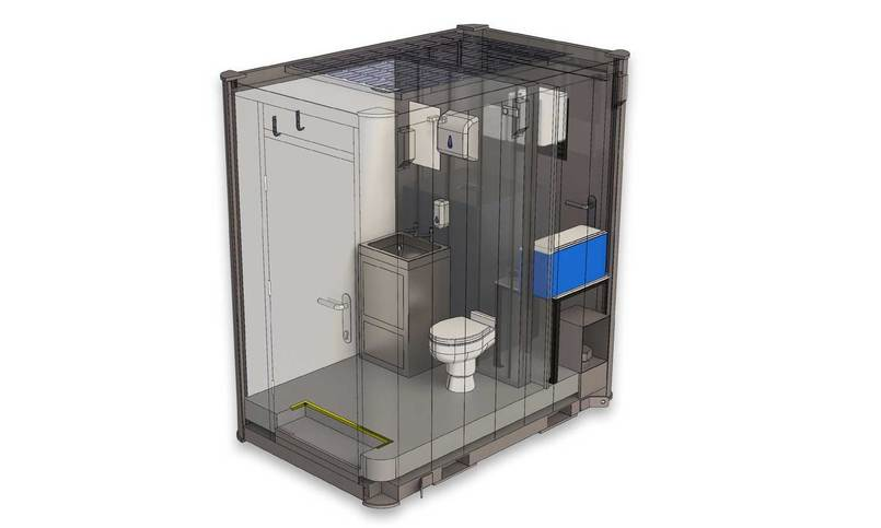 Internal Drawing Of Nixon Solar Loo