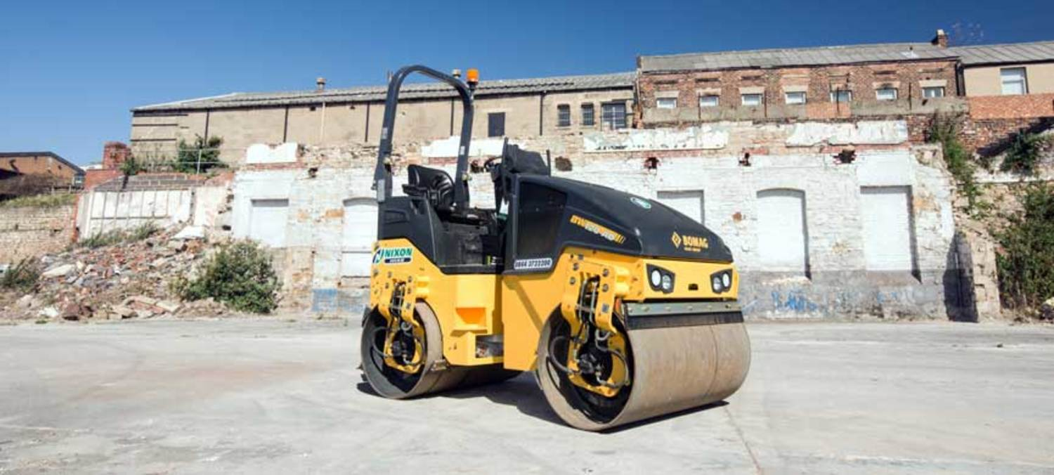 Bomag 120 Double Drum Roller Ready For Sale At Nixon Hire Newcastle Depot