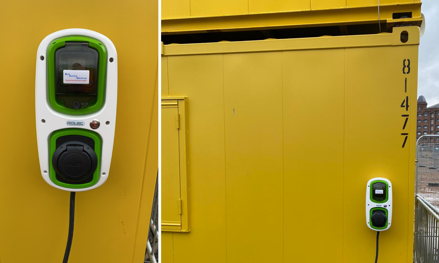 Images of WallPod: EV charging unit mounted to accommodation units
