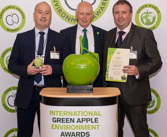 We Are A Green Apple Award Winner!