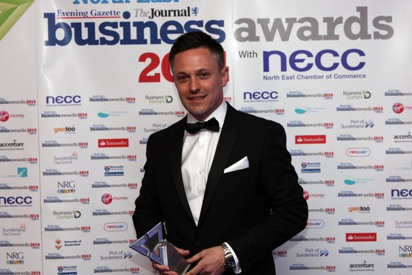 Graham Nixon accepts Company of the Year 2014 award