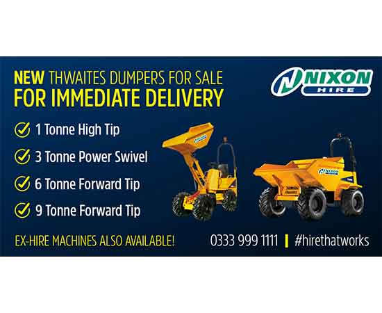 New Thwaites Dumpers For Sale - Ready For Immediate Delivery!