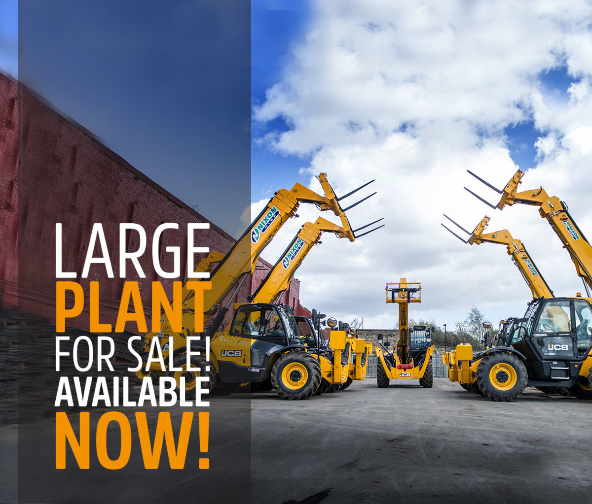 Brand New JCB Telehandlers Waiting in Nixon Hire Depot