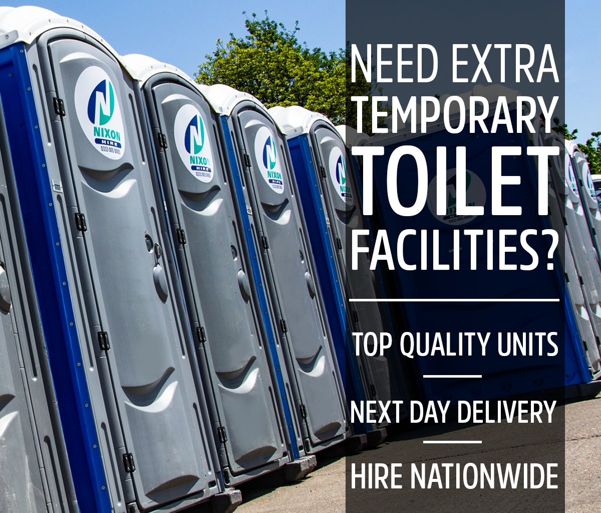 Portable toilet units - chemical toilets and more